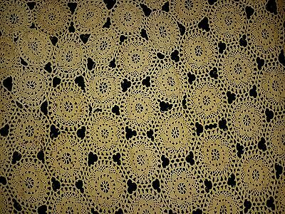 Gorgeous Victorian Crocheted Bedspread / Tablecloth 1880 C.