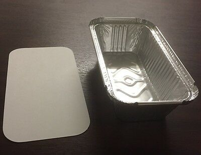 25 x No6a ALUMINIUM FOIL FOOD GRADE STORAGE CONTAINERS + LIDS