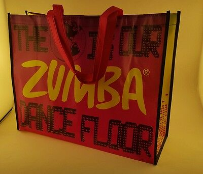 NEW ZUMBA Fitness Shopping Tote /Bag -Travel Gym ZIN. RARE .. Free Shipping ....