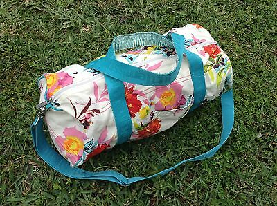 LITTLE MISSMATCHED GIRLS duffel tote travel cheer bag luggage floral crossbody