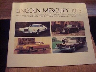 "1975 ""LINCOLN-MERCURY"" , Dealer Pamphlet, 31 Pages      (N)"