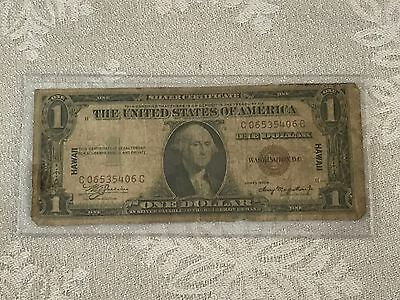 1935 A $1.00 SILVER CERTIFICATE == HAWAII == bank note nice used condition