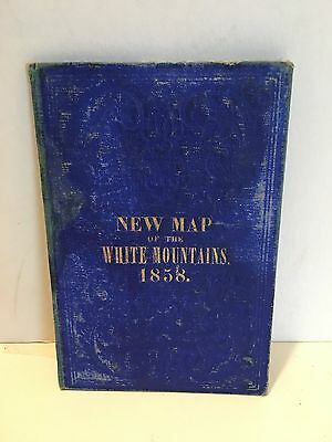 Map of the White Mountains 1858  Harvey Boardman ORIGINAL