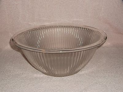 """Clear Glass Ribbed 10"""" Rolled Top Edge Mixing Bowl"""
