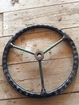 John Deere B styled tractor original JD steering wheel