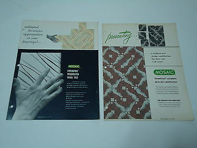 Mosaic Tile Company Formfree Wall & Floor Tile 2 Booklets Ceramic Vintage 1950s