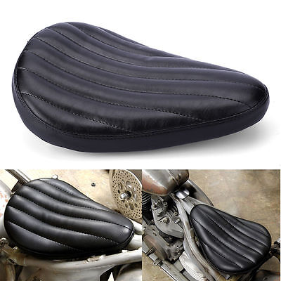 HardBody Black Leather Solo Seat for Harley Motorcycle Bobber Chopper