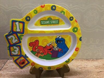 Sesame Street Childs Plate 2007 First Years Cookie Monster Elmo