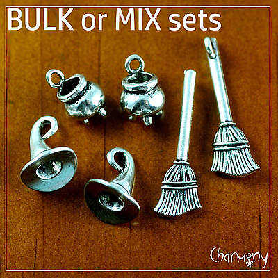 Witch's Brew charms ~MIX or BULK~ cauldron broomstick broom hat halloween witch