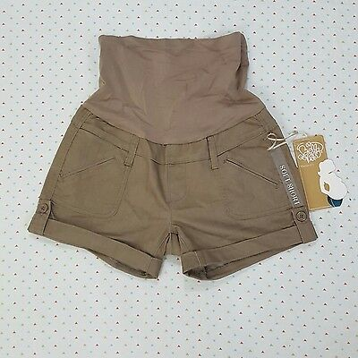 Bella Vida Maternity NWT Short Large Tan