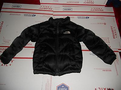 NORTH FACE TODDLER baby's  GIRLS DOWN JACKET SIZE 2T USED