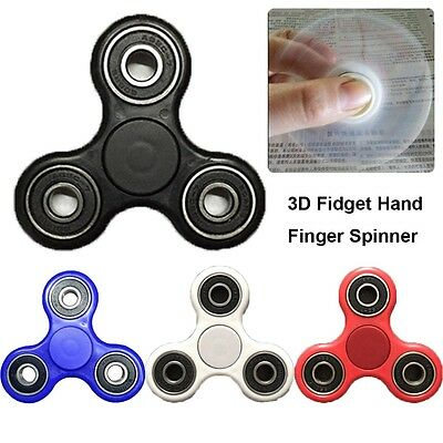 3D Fidget Hand Finger Spinner EDC Focus Stress Reliever Toys For Kids Adults EE