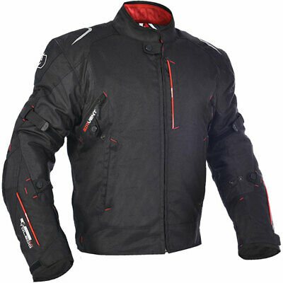 Oxford Toledo Waterproof Textile Motorcycle Motorbike Jacket - Black