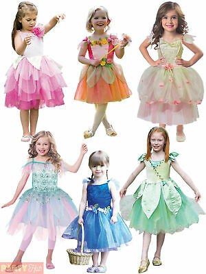 Girls Deluxe Fairy Costume Childs Forest Leaf Woodland Nymph Fancy Dress Outfit