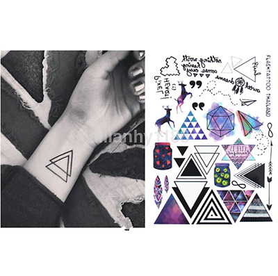 Geometric Temporary Tattoos Body Arm Leg Waterproof Flash Tattoo Stickers New