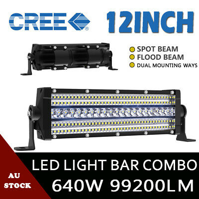 """9""""inch 5920W OSRAM Round LED Combo Spot Driving Lights Off Road 4WD SUV 12V 24V"""