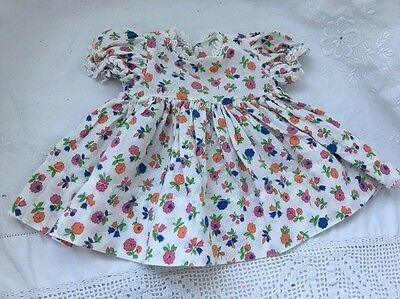 "Vintage Doll Clothes Lot #22: Floral Baby Doll Dress For 16"" Doll"