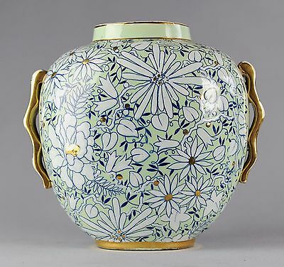 VASE ART DECO BOCH FRERES KERAMIS BFK RAYMOND CHEVALLIER EMAUX no Catteau