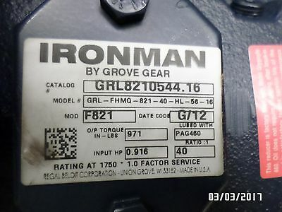 Inventory Clearance!! Grove Gear Iron Man 40:1  Left Hand  56 C Face