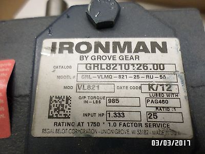Inventory Clearance!! Grove Gear Iron Man 25:1  Right Hand  56 C Face