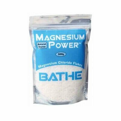 Magnesium Power Magnesium Chloride Bath Flakes (500g)  | BRAND NEW