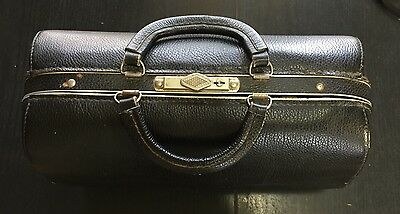 Emdee By Schell Antique Vintage Leather Doctor's Bag Steampunk