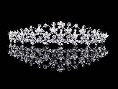 New Floral Daisy Crystal Diamante Prom Wedding Bridal Bride Bridesmaid Tiara