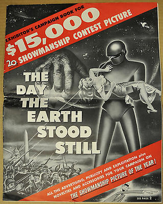The Day The Earth Stood Still 1951 Pressbook Michael Rennie Patricia Neal