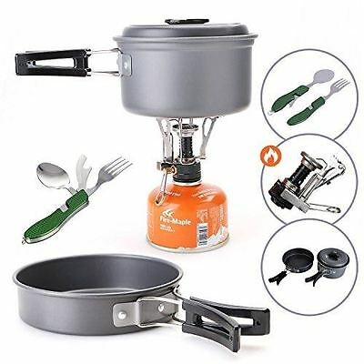 Camping Cookware Set, Hiking Backpacking, Outdoor, Camping Stove and Pan Kit