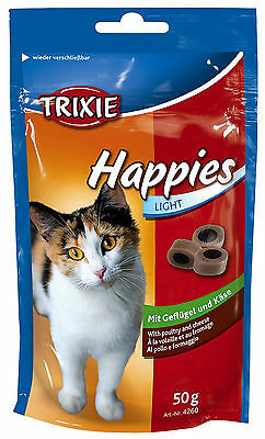 Cat Treat Happies Light with Poultry and Cheese in Resealable 50g bag