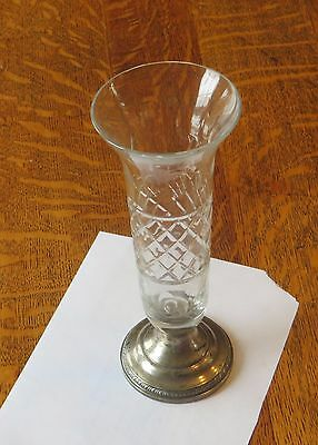 Antique Sheffield Silver Sterling Bud Vase