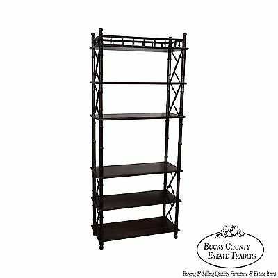 Quality Faux Bamboo Open Bookcase Etagere