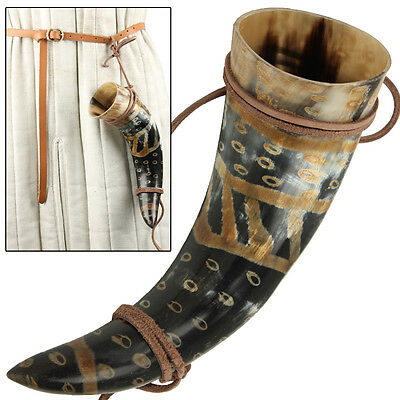Viking Drinking Horn Norman Leather Holder