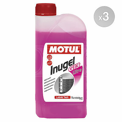 Motul INUGEL G13 Ultra Concentrated VW Antifreeze - 3 x 1 Litres 3L