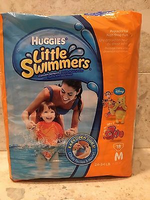 Huggies Little Swimmers Size Medium 24-34 lbs  18 Count