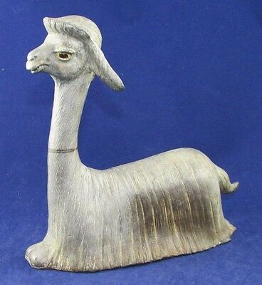 Vintage Freeman McFarlin Dark Grey Llama Signed Extremely RARE VHTF