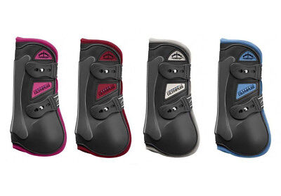 Veredus COLOURED Olympic Olympus TENDON Showjump Boots Black/Pink/Blue/Pink/Red