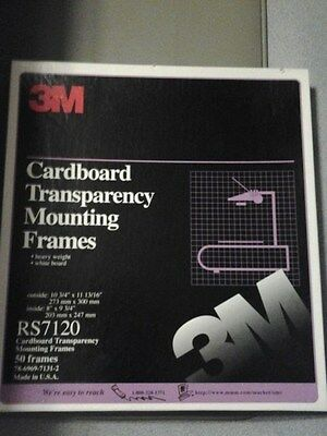 3M Cardboard Transparency Mounting Frames #RS7120 [Box of 50 Frames]