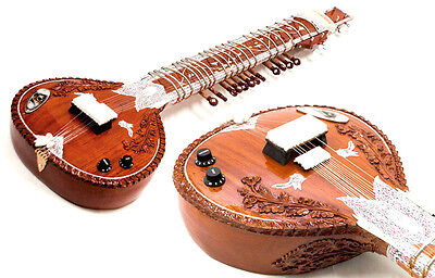 Uk Shipping - Left Handed Acoustic Electric Sitar + Fiberglass Case. + Strings +