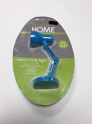 Book Reading  Light with adjustable neck, On/Off switch Desk Light Lamp Blue