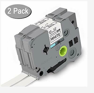 2pk Compatible for Brother P-touch Office TZe-231 TZ-231 Label Tape 12mm 8m