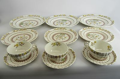 """Vintage Copeland Spode Made in England """"Buttercup"""" 3 Place Settings of 4 12 Pcs"""