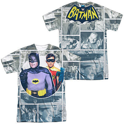 Batman 60s TV Show 60S PANELS 2-Sided Sublimated All Over Print Poly T-Shirt