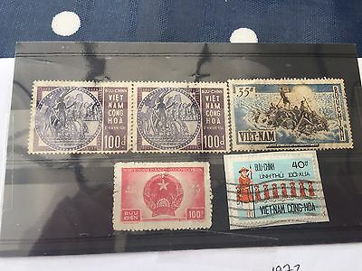 Vietnam some better valued stamps on card