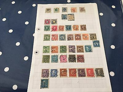Sweden mint and used stamps on album pages direct from estate untouched