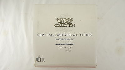 "Dept. Department 56 New England Village Series ""CHOWDER HOUSE"" MINT IN BOX LOOK"