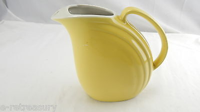 VINTAGE CANARY YELLOW WATER PITCHER ICE LIP 1940s HALL USA