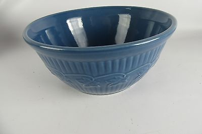 Vintage Monmouth Blue Pottery Mixing Bowl With Ivy Garland