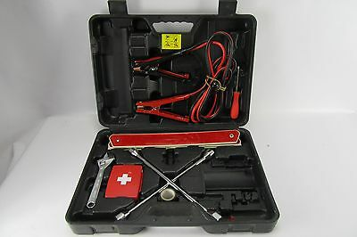 Auto Emergency Tool Set Kit Jumper Cables Car W Case