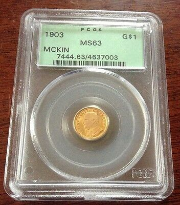 1903 Mckinley One Dollar Gold Piece Pcgs Ms 63